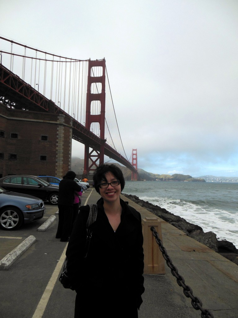 Jeanette at the Golden Gate Bridge