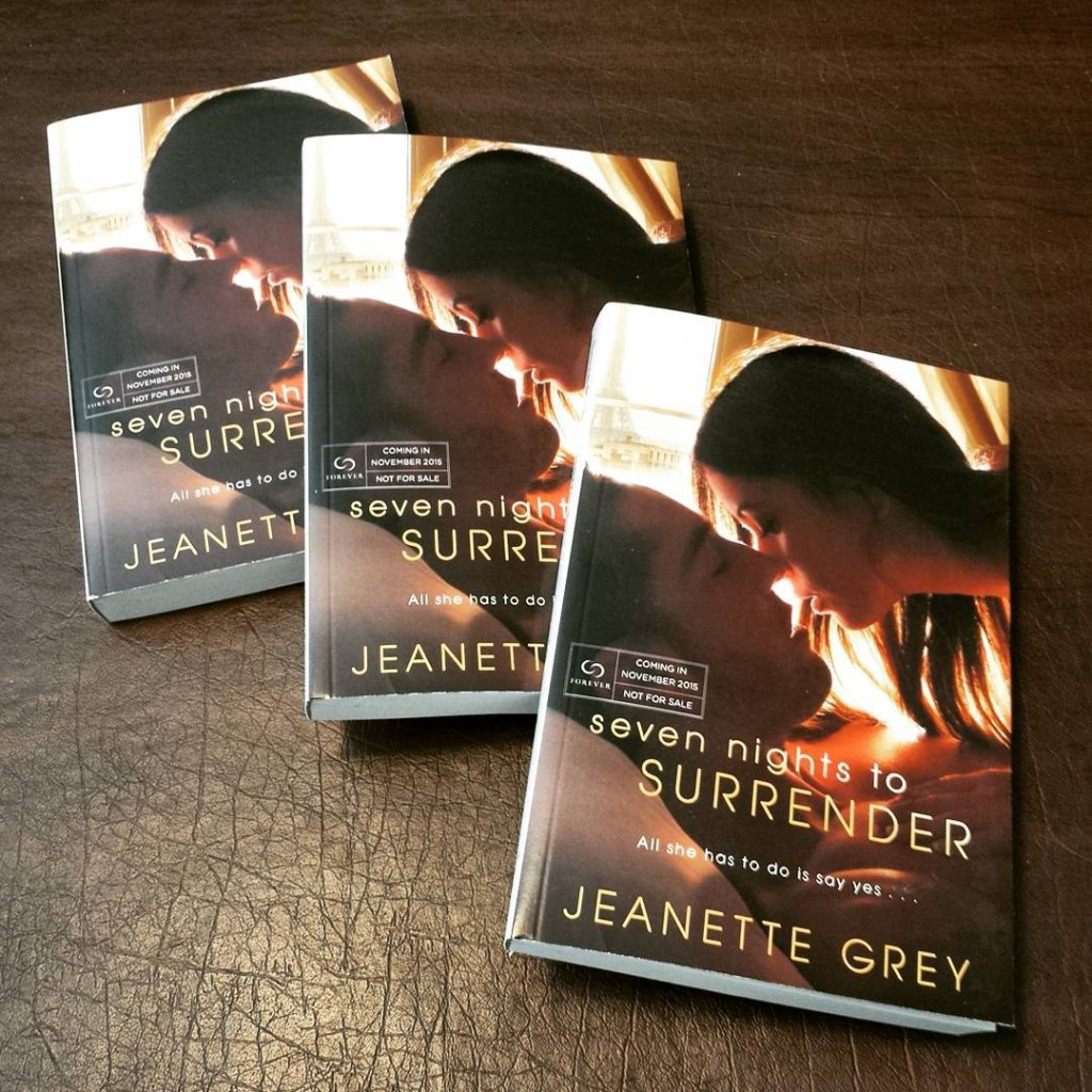 Jeanette Grey's Seven Nights To Surrender is an Erotic Romance Set in Paris
